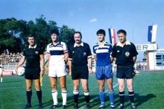Spartak - Osijek krajem 80-tih, kapiteni Rudolf Rafai i Davor Šuker