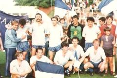 Ekipa Spartaka koja je 1986. izborila povratak u elitu Trener Zemko Kuntić Đuran Sabo Popović Slijepčević Čava Dimitrijević Ugljanin Karač Đurović Ljiljak