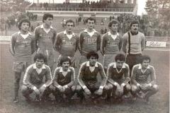 FK Spartak Subotica - jesenji prvak 2. lige Zapad u sezoni 1979 80 Stakić, Muci, Ivošević, Narandžić, Stefanović, Šuica Stipić, Jakovljević, Slijepčević, Miranović, Novaković.