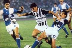 Partizan - Spartak 2-0, 10.08.1986, Fadil Vokri u prodoru kraj Arsića, Slijepčevića i Kovačevića