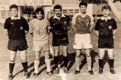 Spartak - Radnički Niš, kapiteni Zoran Arsić i Zoran Milošević.