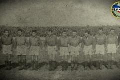 Tim Spartaka iz 1946. godine - Šimonković, Kopilović, Zvekanović, Azucki, Takač, Elek, Prčić, Jakovetić, Tumbas, Belesin i Janjić.