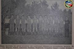 Tim sa prve utakmice Subotičkog Spartaka u istoriji, 1945. godine.